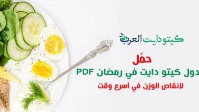 صورة جدول كيتو دايت في رمضان PDF : تحميل كتيب بأفضل الوصفات لشهر الصوم